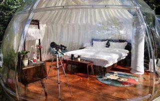 Transparent dome house